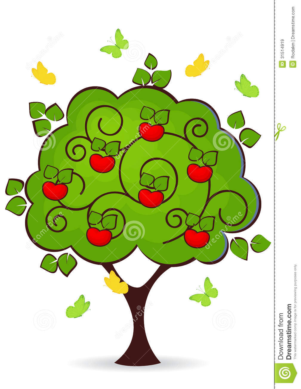 Apple Tree Royalty Free Stock Images.