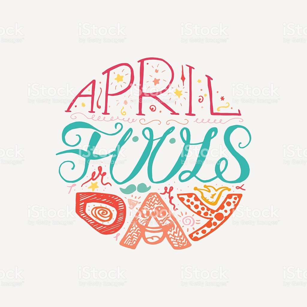 April Fools Day Lettering stock vector art 614865762.
