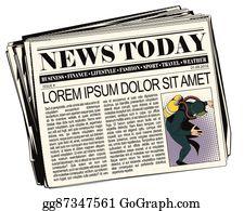 Newspaper Article Clip Art.