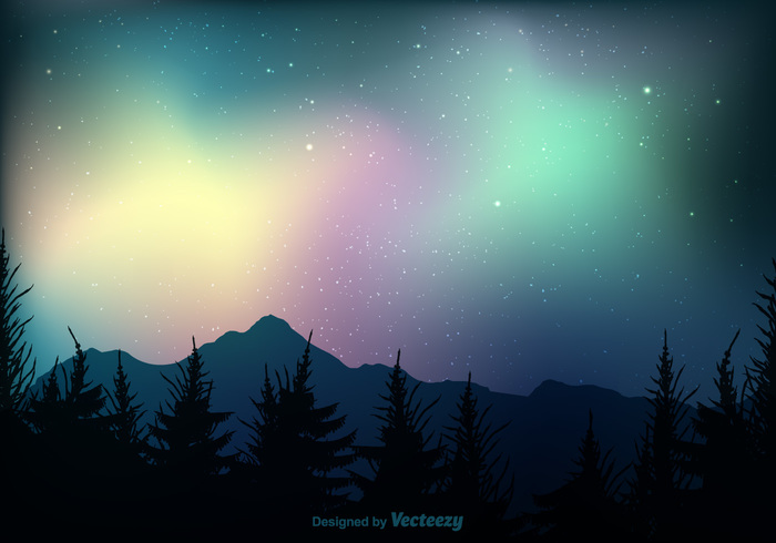 Northern lights clipart free download.