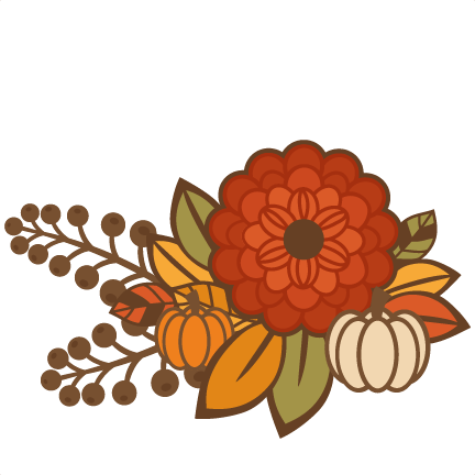 Flower Group Title SVG cutting file for scrapbooking autumn svg.