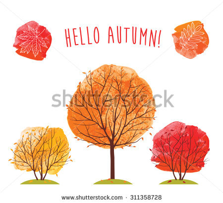 Red Tree Stock Images, Royalty.