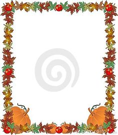 Pumpkin autumn border vector 106854.