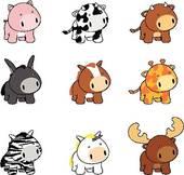 Baby Animal Clip Art.