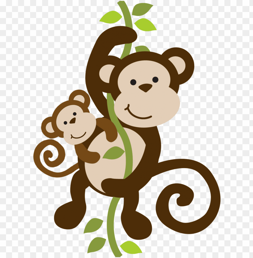 mommy clipart baby monkey.