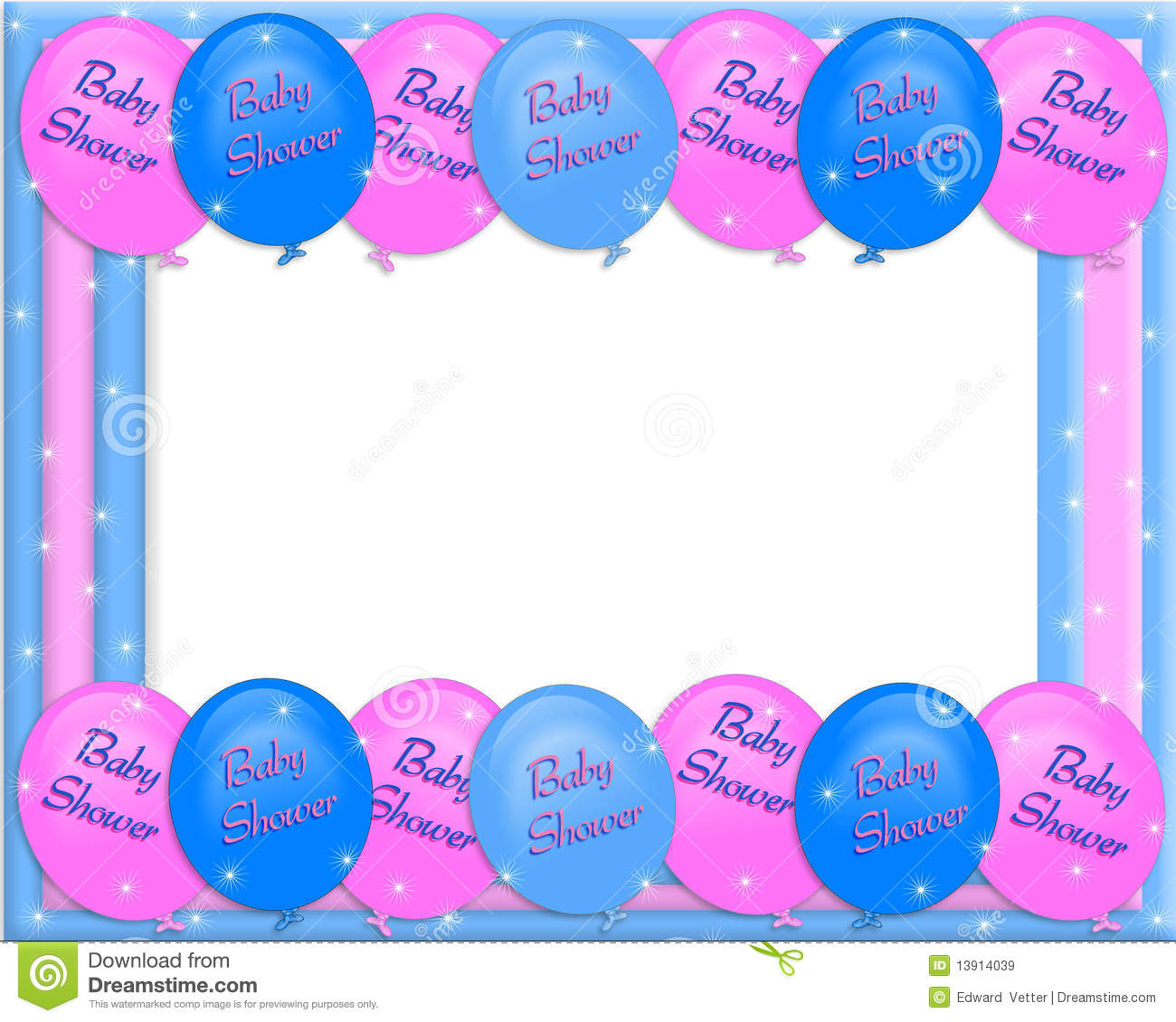 Baby Shower Invitation Border Royalty Free Stock Image.
