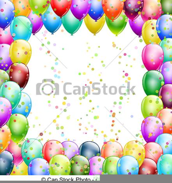 Free Clipart Balloons And Confetti.