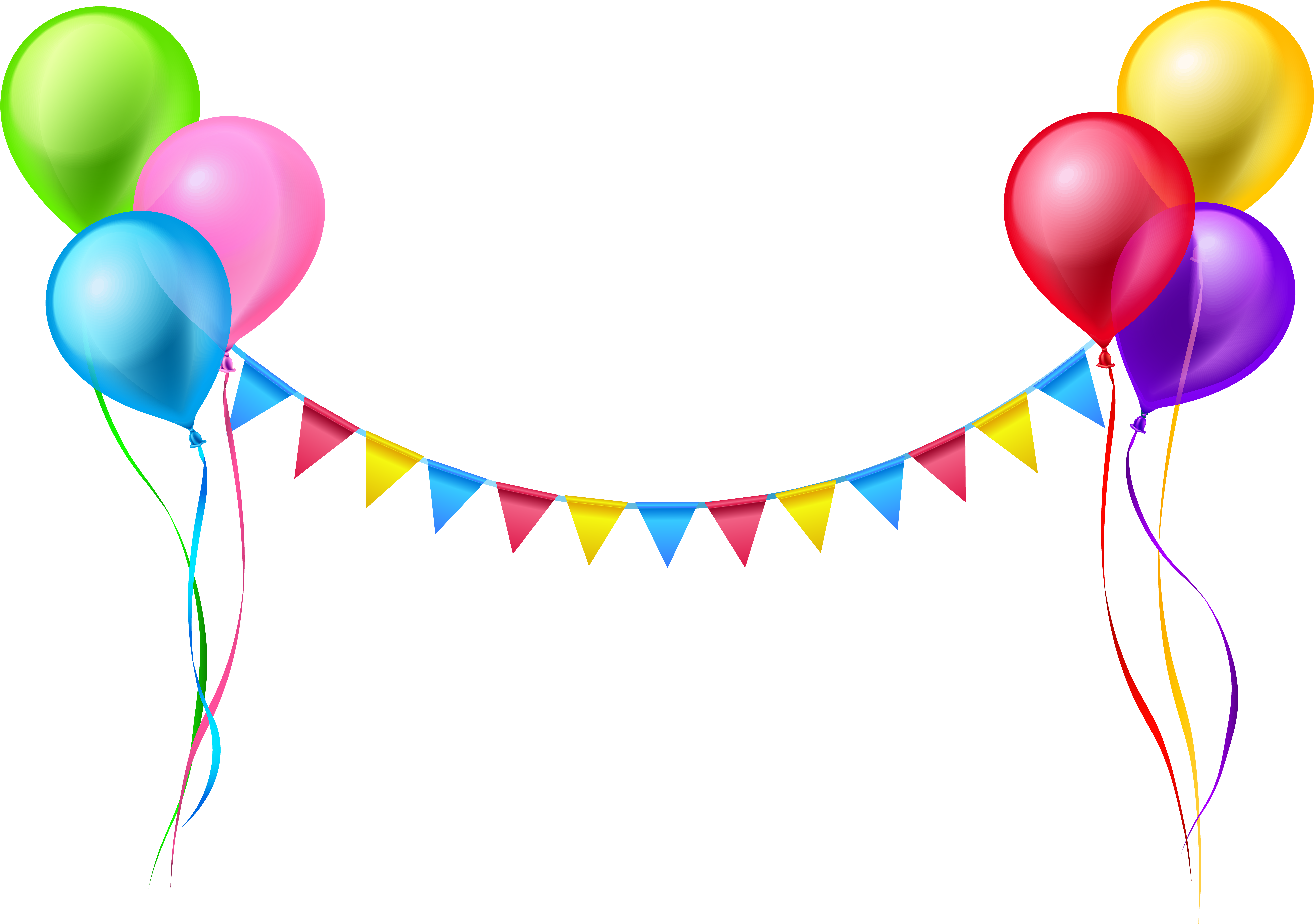 Vector Free Download Balloons And Streamers Clipart.