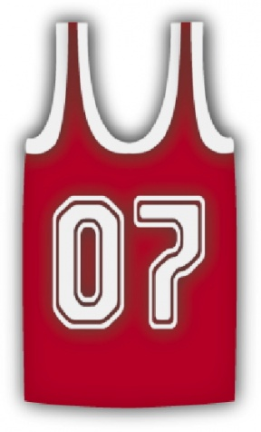 Blank Basketball Jersey Template.