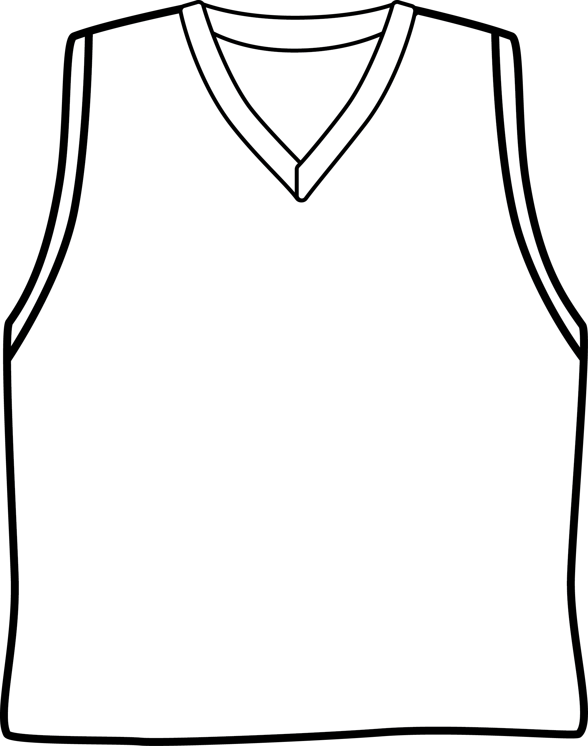 Black Basketball Jersey Clipart.