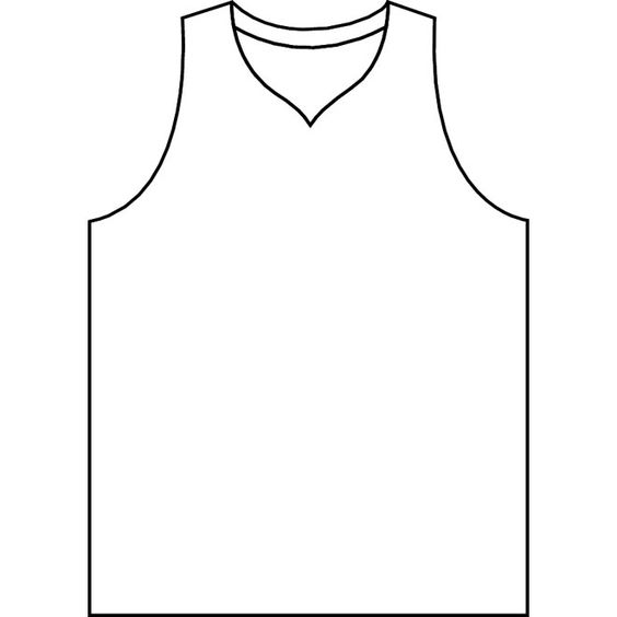 Basketball Jersey Vector.