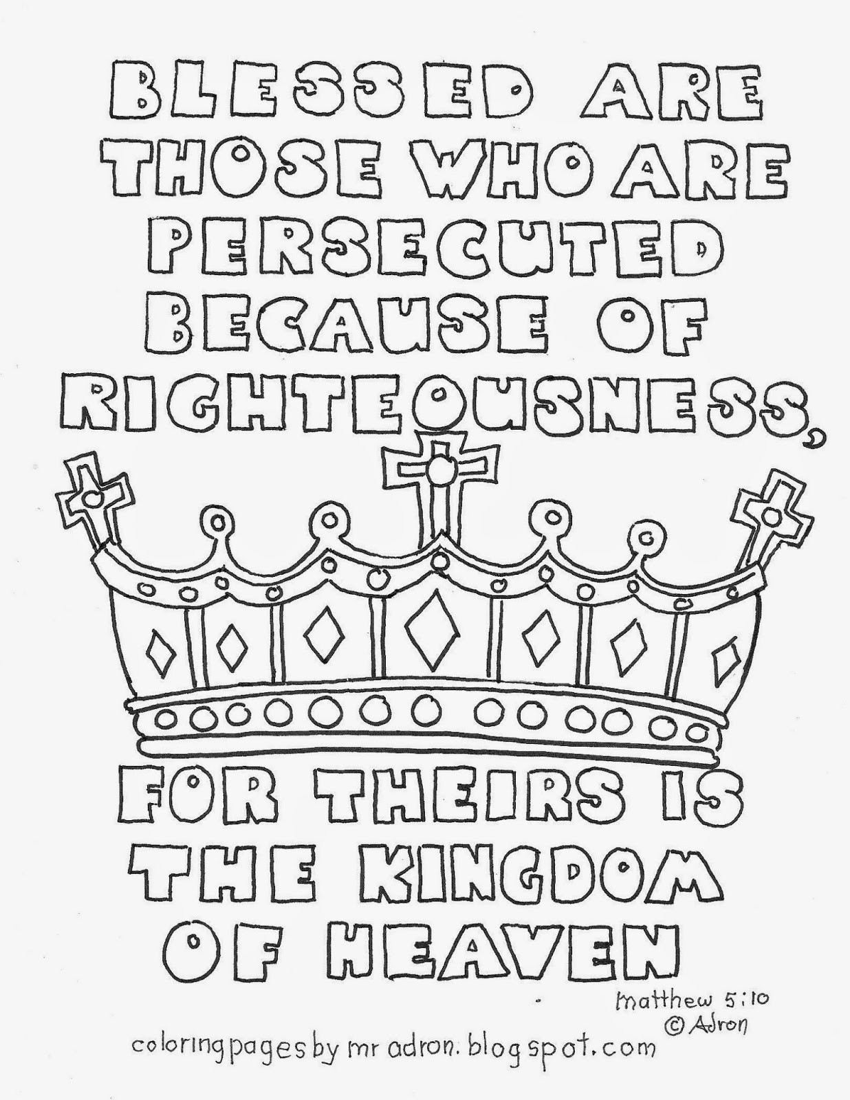 Free Beatitudes Coloring Page, Download Free Clip Art, Free.