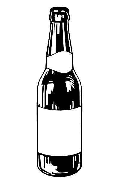 445 Beer Bottle free clipart.