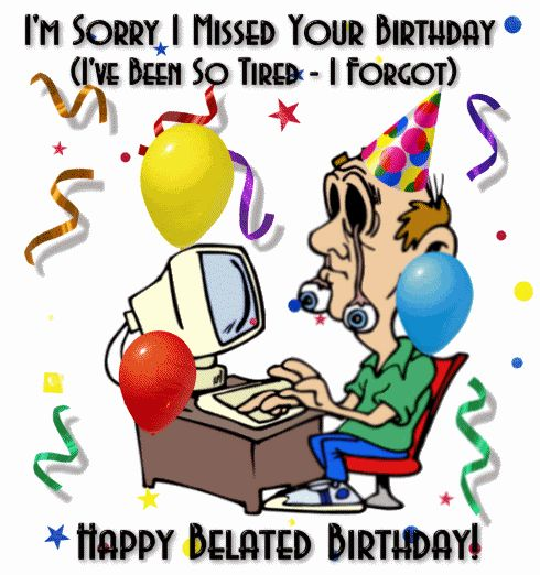 Belated Birthday Clipart.
