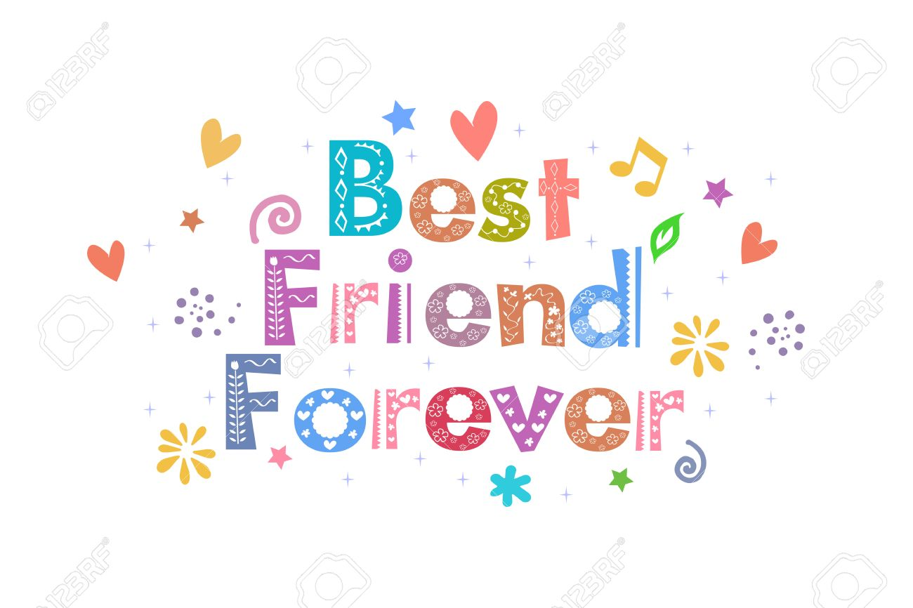 Best Friend Forever text for card design.
