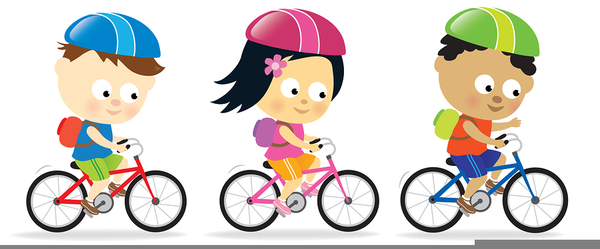 Free Clipart Of Child Riding Bike.