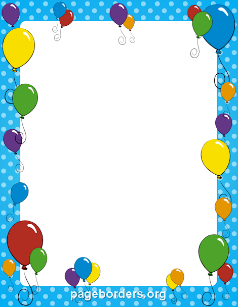 Free Birthday Borders: Clip Art, Page Borders, and Vector Graphics.