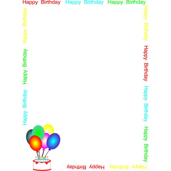 Birthday Borders For Word.