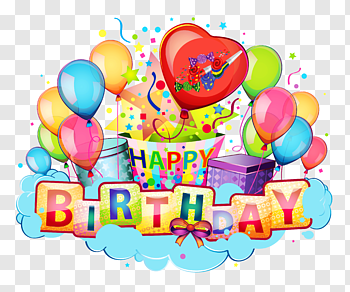 Happy Birthday Card cutout PNG & clipart images.