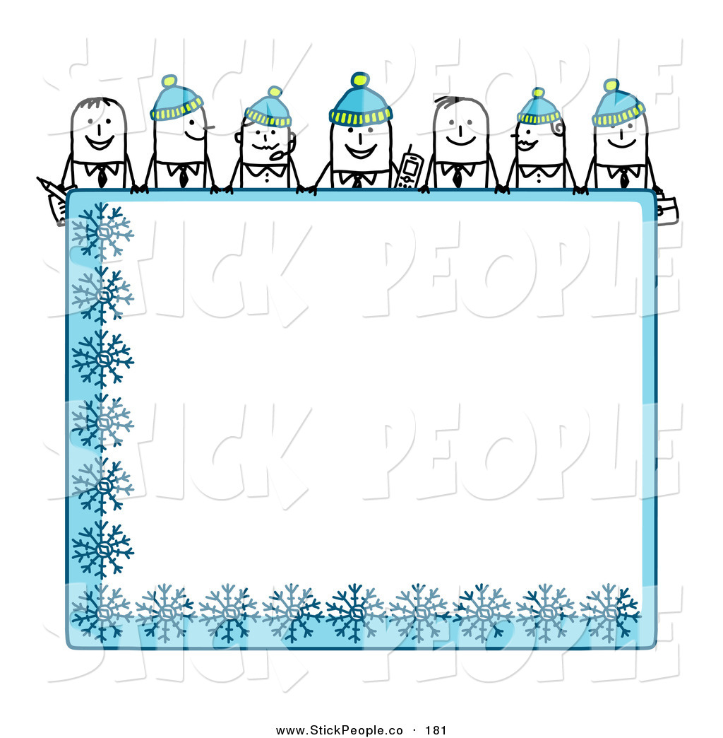 Royalty Free Winter Stock Stick People Designs.
