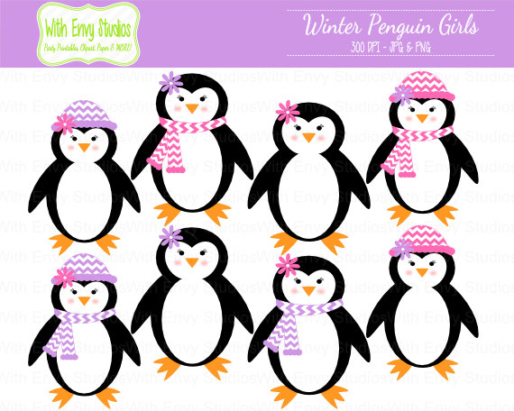 Birthday Penguin Clip Art.