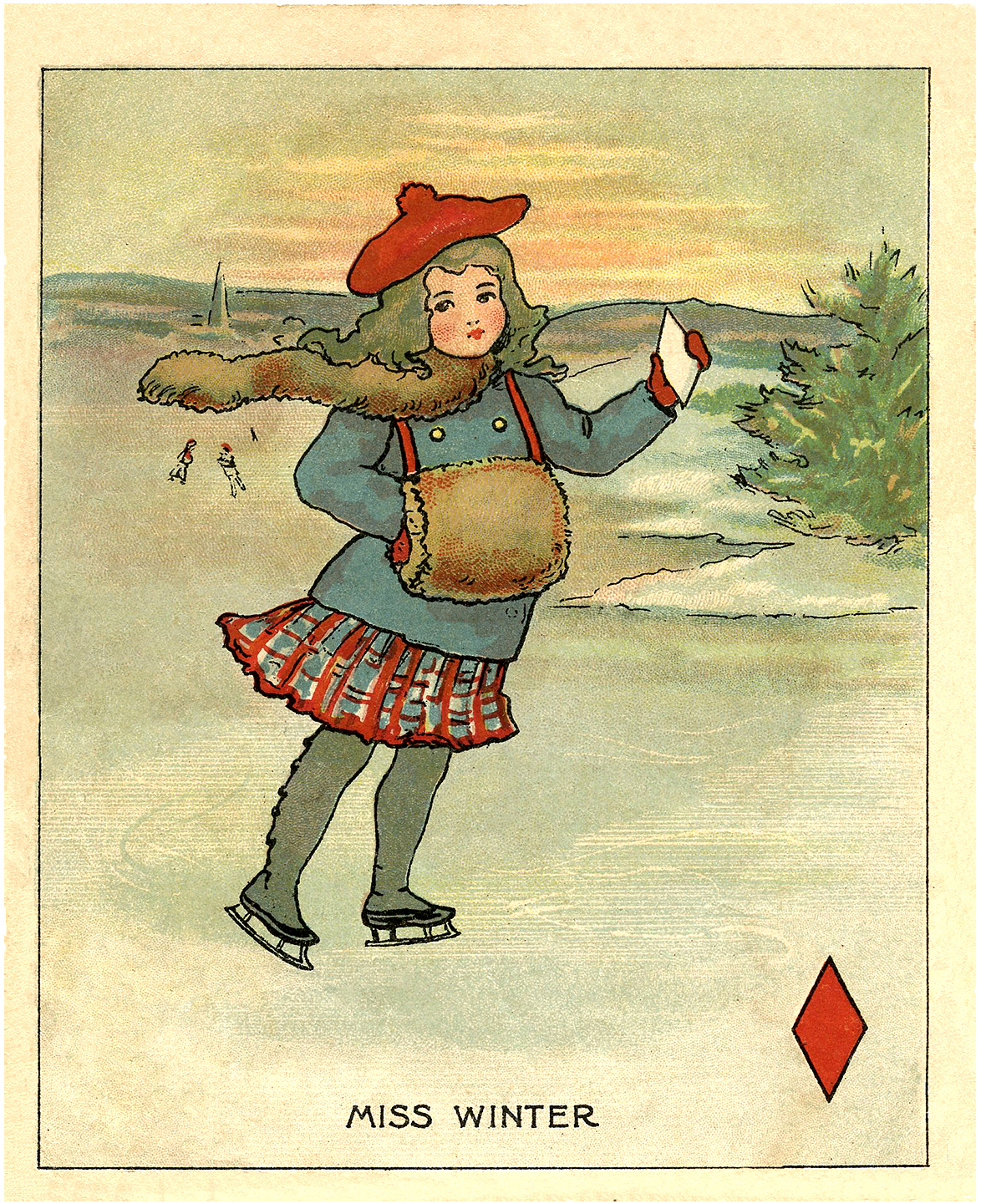 Vintage Winter Clipart.