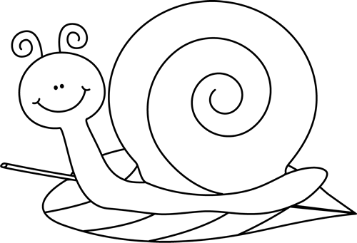Snail Clip Art > Black and.