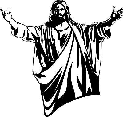 Free Black And White Clipart Of Jesus.