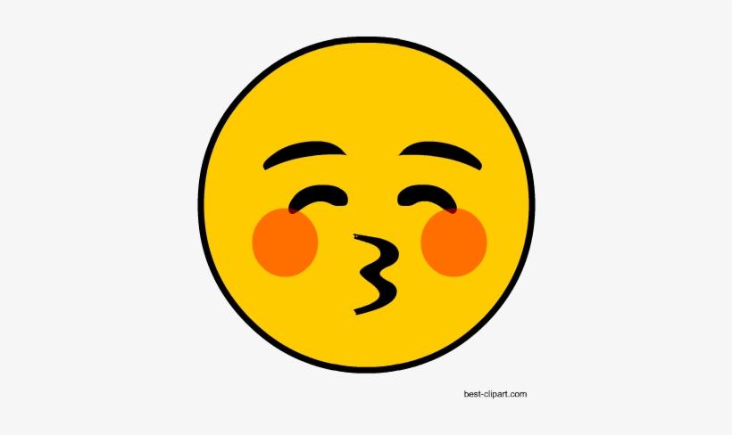 Free Blowing Kiss Emoji Clip Art.
