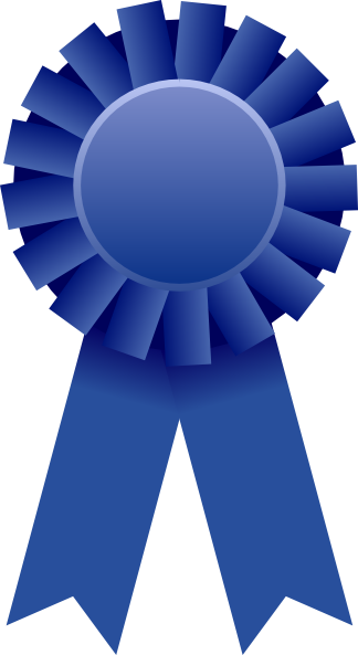 Blue Ribbon Award Clipart.