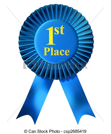 Stock Illustration of First place ribbon.
