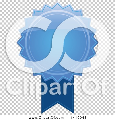 Clipart of a Blue Ribbon Award Design Element.