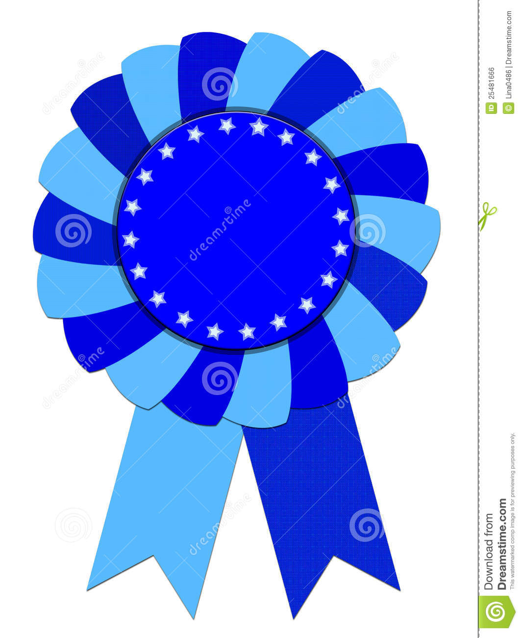 Free Clipart Blue Ribbon Award.