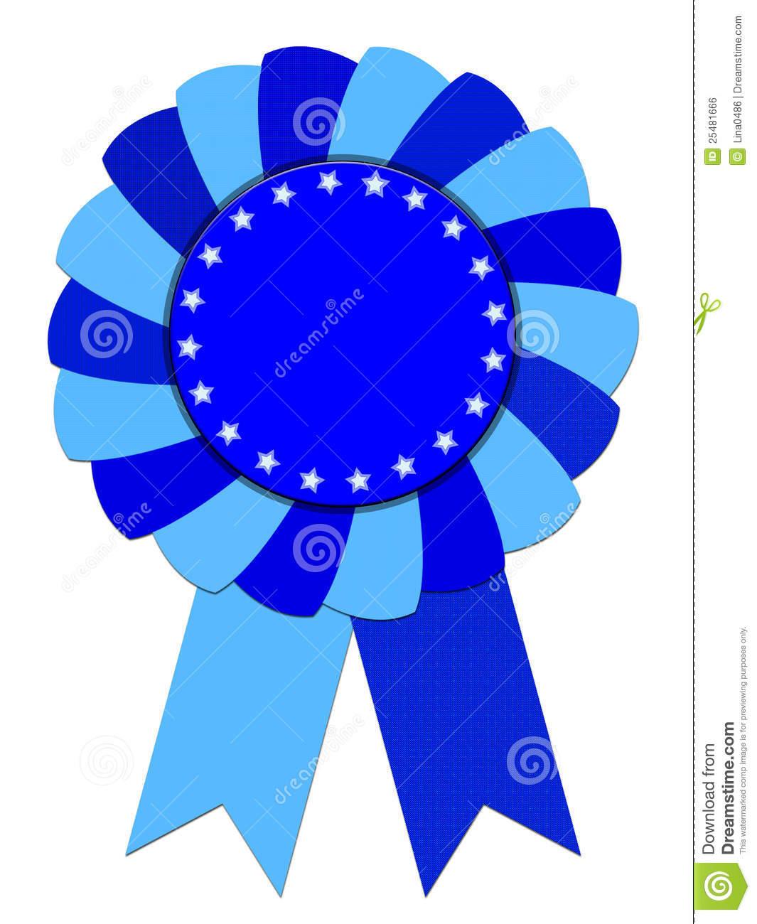 Free Clipart Blue Ribbon Award.