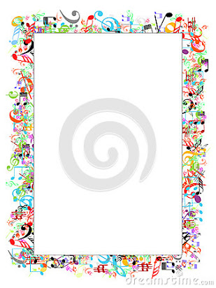 Free music note page border.
