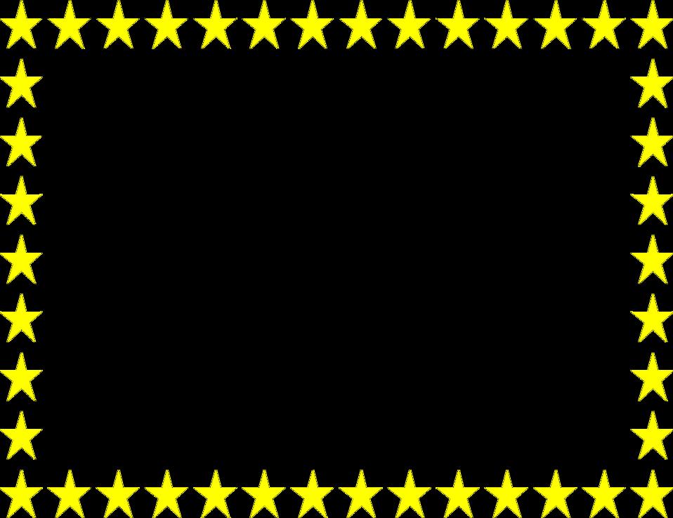 Free Stars Clipart Border Image.