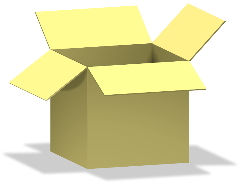 Free Clipart: Box, opened, de?Ä?.