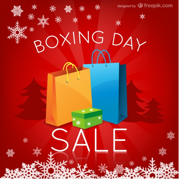 Boxing Day Sales Free Vector.