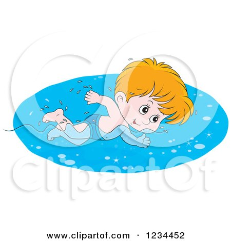 free clipart boy swimming #7