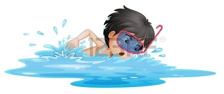 free clipart boy swimming #3