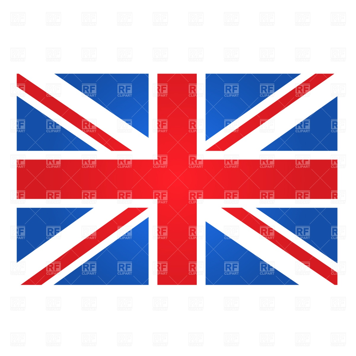Great Britain flag Stock Vector Image.