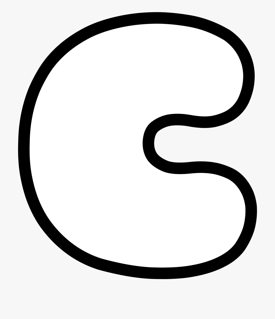 Uppercase Bubble Letter C.