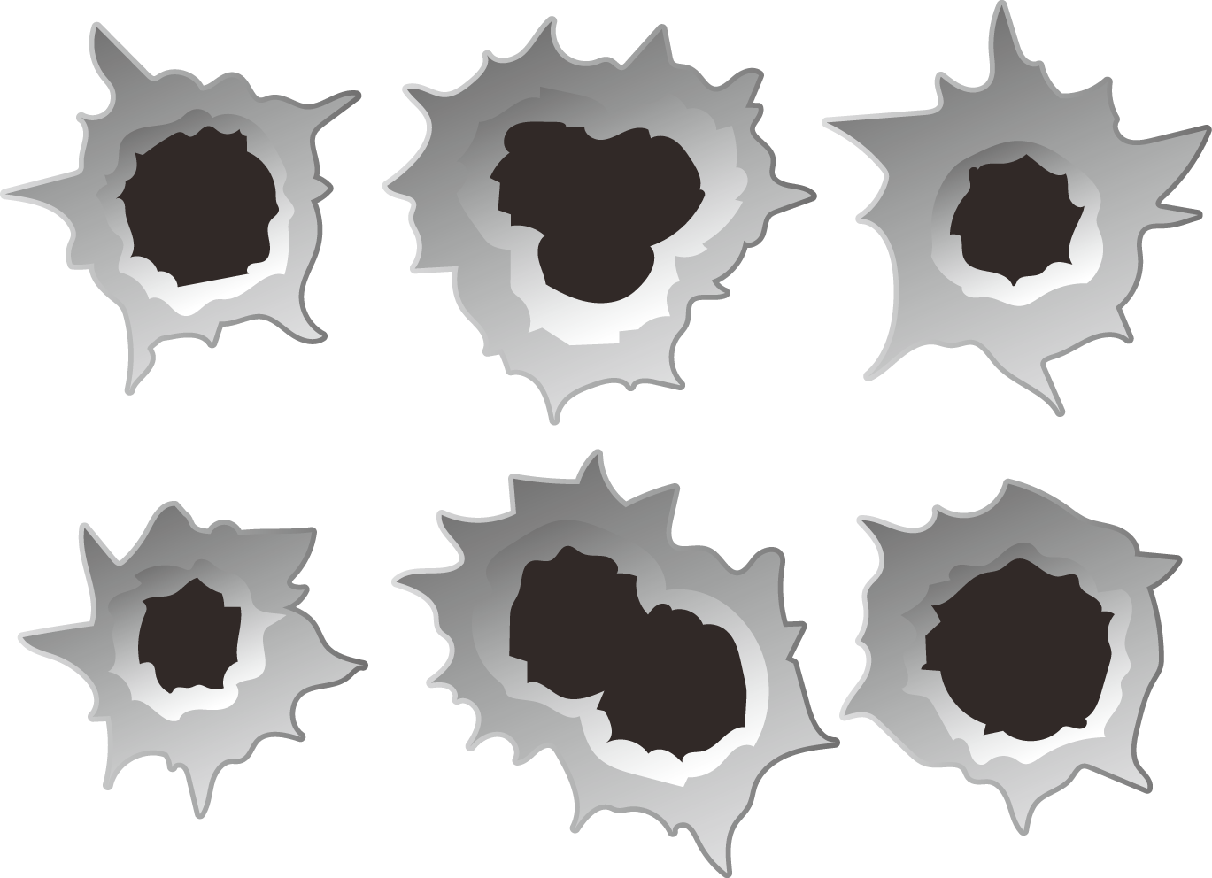 Bullet Holes PNG Images Transparent Free Download.