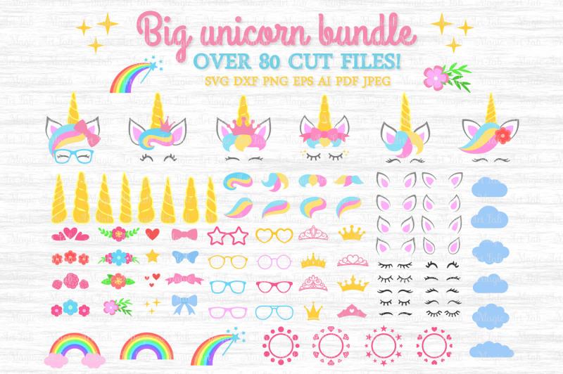 Free Unicorn SVG, Unicorn bundle SVG, Unicorn clipart, Unicorn party.