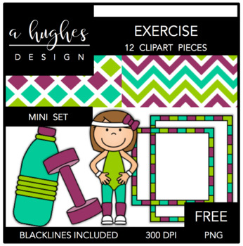 FREE Exercise Mini Clipart Bundle {A Hughes Design}.