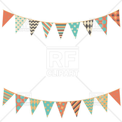 Party bunting flags Stock Vector Image.