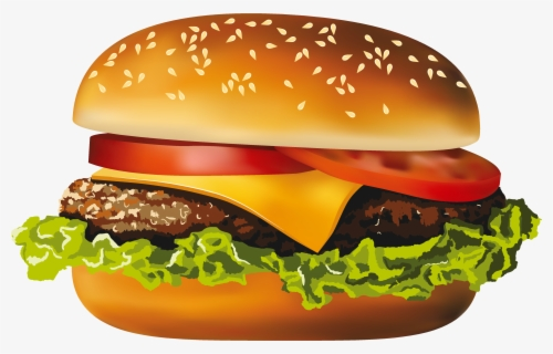 Free Hamburger Clip Art with No Background.