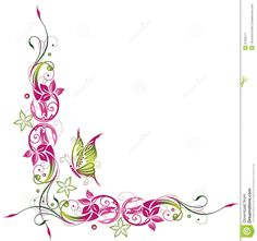 Image result for clipart butterfly borders.