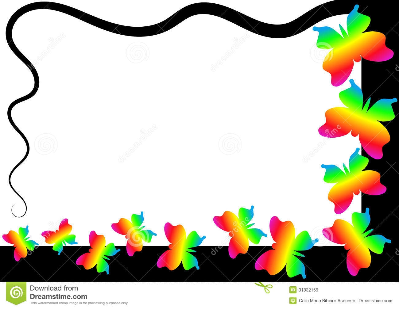 free clipart butterfly borders - Clipground