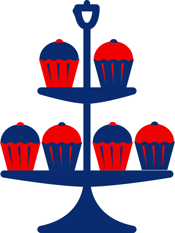 Free Clipart: Jubilee cake stand blue.